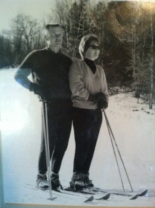 My parents. I found this photo I had never seen after my mother passed away. Probably Tahoe since no coats. mid 60s.