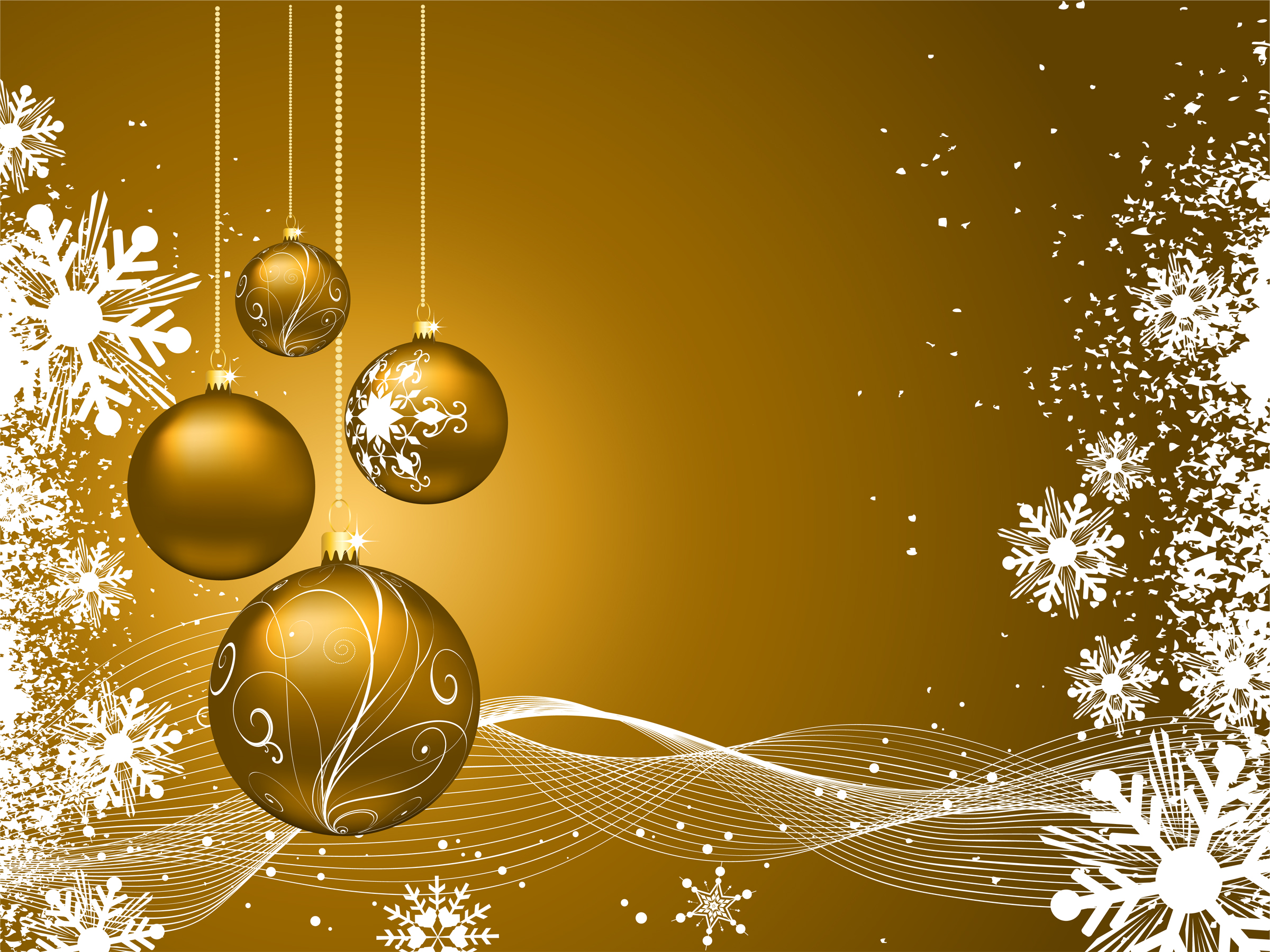 golden christmas background with - photo #5